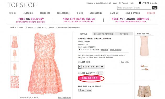Topshop coupon code