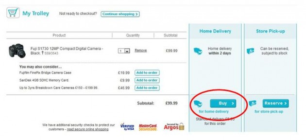 Argos voucher codes for 10 to 25% off everything they carry; How to get an Argos Card. To apply for an Argos Card that lets you plan out the best payment options for you, click here and follow the directions. Argos Delivery. They deliver between 7 am and 10 pm every day of the week. For more specific delivery information, click here. Argos Returns.