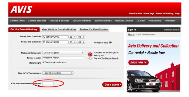 Avis coupon codes online