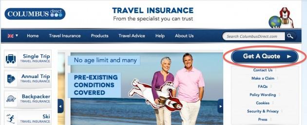 columbus direct travel insurance promo codes new online. Black Bedroom Furniture Sets. Home Design Ideas