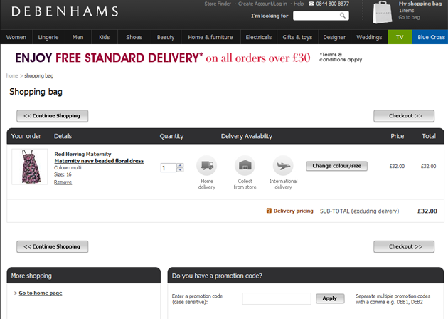 By downloading Debenhams app, you will get all of the fantastic features of items at your fingertips wherever you may be. Plus, special offers and information on store events will be sent straight to your smartphone so that you won't miss a thing from Debenhams. Example Coupons - Debenhams Promo Codes as Below: Up to 70% off summer final clearance.