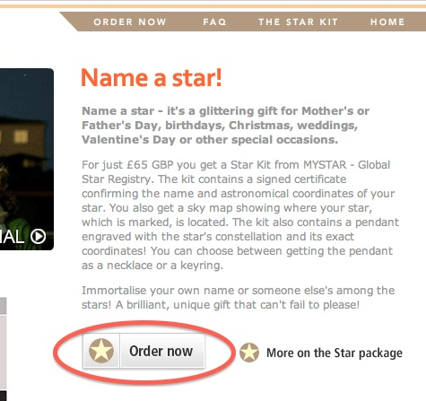 Star registry internet coupon code