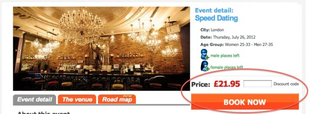 predating speed dating promo code Pre-dating is a baltimore-based speed dating company that offers events throughout maryland its participant age range is slightly broader (24 to 49), and events cost $20 with the use of a promotional code found on the pre-dating website pre-dates are six minutes long, and roughly 40 people attend each event.