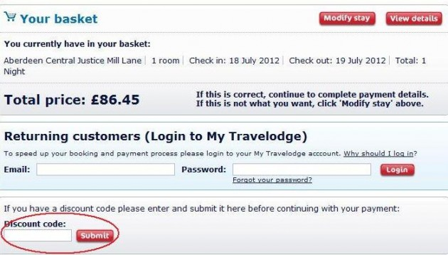 Travelodge discount coupons